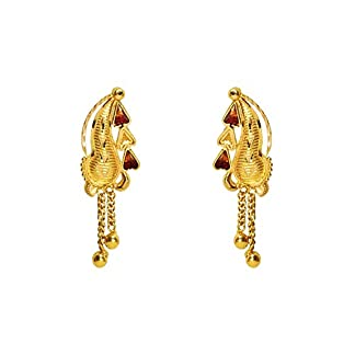Benud Behari Dutt 22KT Gold Drop Earrings for Women