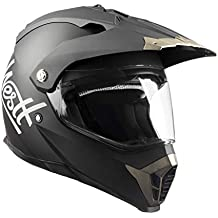Westt® Cross · Casco de moto estilo Cross en negro mate con doble visera.