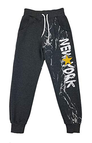 Fashion Boy Warme, Bequeme Jogginghose, Freizeithose in dunkel Grau, Gr. 140/146, J59.12 146 Fashion