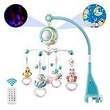Bogeger Baby Bett Glocke Geschichte Projektor Rassel Spielzeug, 360 ° Drehbare Baby Spieluhr Krippe Mobile mit Sternen & Mond Bett Glocke Spielzeug Hängen Rasseln Projektion Spielzeug Geschenk