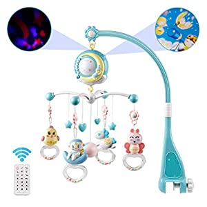 Egosy Baby Musical Crib Mobile 3 en 1 Dream Baby Mobile con Caja de música, luz Nocturna y proyector de luz Estelar, Equipo para bebés Desde el Nacimiento 4