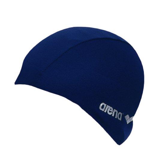 arena Unisex Badekappe Polyester aus Stoff (Wasserdurchlässig, Schnelltrocknend), blau (Navy), One Size