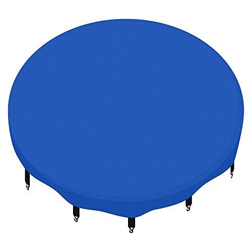 awm® Trampolin Abdeckplane Regenabdeckung Schutzplane 305 366 400 430 460 cm schwarz blau grün (blau, 366cm)
