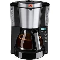 Melitta LOOK Timer 1011-08 Macchina da caffè con filtro 15tazze Nero, Trasparente