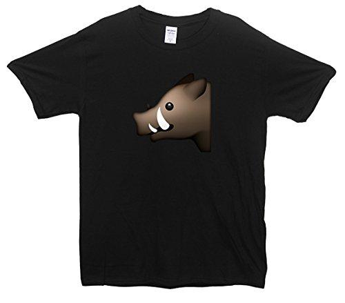 Boar Emoji T-Shirt Schwarz