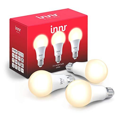 Innr E27 Smart LED Lampe, warmweißes Licht, dimmbar, kompatibel mit Philips Hue* und Echo Plus (Bridge erforderlich) (RB 265-3)