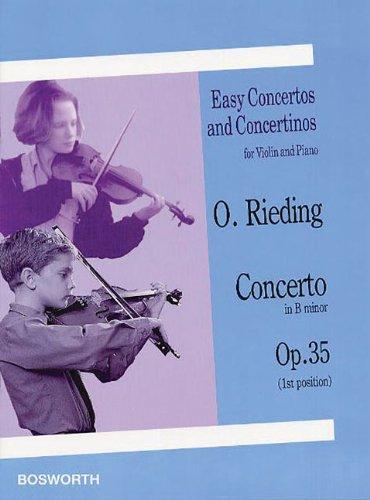 Rieding : concerto op 35 - violon (édition Bosworth)