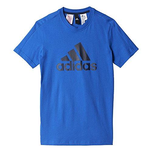adidas YB Logo Tee T-shirt für Jungen,  Blau (Blau / Maruni), DE : 7 - 8 Jahre(Herstellgröße : 128)