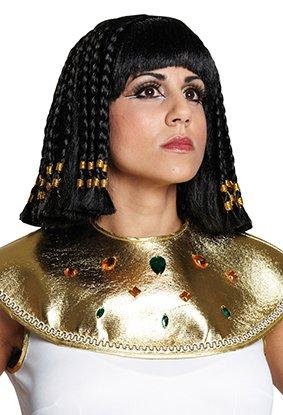 Schwarze Cleopatraperücke Perücke Cleopatra Cleo Asterix und Obelix Damenperücke Dame mittellang (Kostüm Von Asterix Und Obelix)