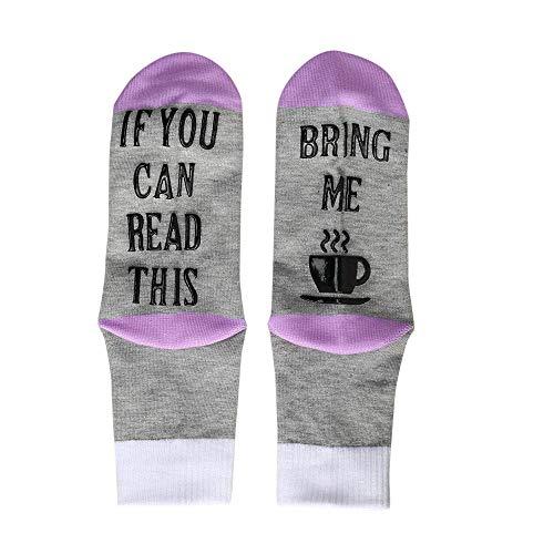 LoveLeiter Männer Unisex Bitte nicht stören Great Gamer Geschenk Brief drucken lustige Warm Socken Weihnachtssocke Unisex Socken Herbst Winter Strümpfe(Lila,Freie Größe)