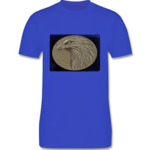 Vintage - Vintage Adler - Herren Premium T-Shirt Royalblau