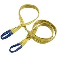 Braun 30032HB - Correas de recuperación (3000 kg, 3 m, extremos reforzados), color amarillo