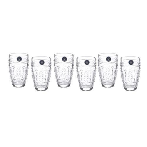 Set bicchieri in vetro, da 6 pezzi
