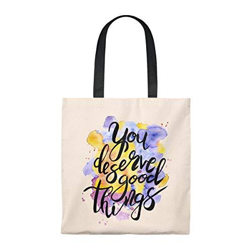 You Merve Good Things - Bolsas de algodón para mujer, regalo de divorciado, regalo para el día de Galentinas, bolsa de compra reutilizable, regalo de cumpleaños para mamá