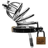 Top Shop Master Series - Jaula de castidad para pene de metal, diámetro de la jaula: 3,3 cm, con agujero para la minción o la eyaculación