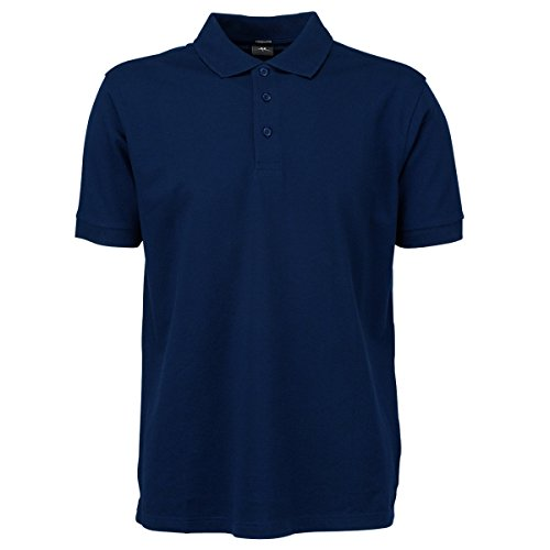 Tee Jays Herren Luxury Stretch Polo-Shirt, Kurzarm (3XL) (Marineblau) - Polo-tee