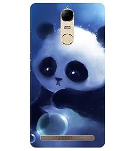 Chiraiyaa Designer Printed Premium Back Cover Case for Lenovo K5 Note (teddy bear bubble cute) (Multicolor)