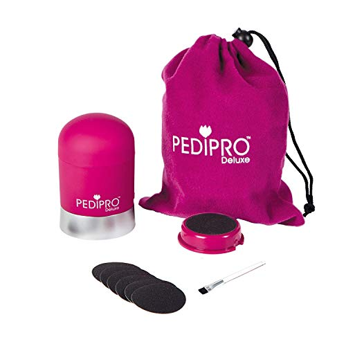 Bullet Pedi Pro Deluxe - Kit de pedicura eléctrico 12 piezas de dos velocidades - Práctico, sin...