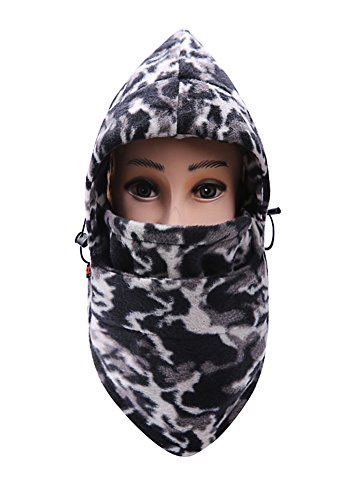 MAIBU Tarnung Windbreaker Neck Warm CS Balaclava verstellbar Unisex Winter Ski Radfahren Full Face Mask Hat (Camo (Kostüm Face Ghost Womens)