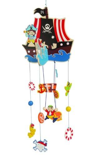 Inware 22248 - Mobile Pirat, aus Holz (Piraten-baby)