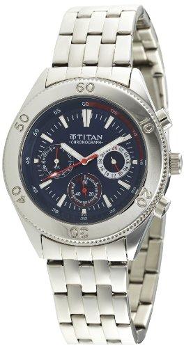 Titan Octane Chronograph Blue Dial Men's Watch - ND9324SM04J