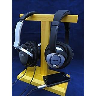 AUDIO123 SW2 Holzdoppel Headset Kopfhörerständer Halterung für Sennheiser Sony Grado AKG Denon und großen Kopfhörern