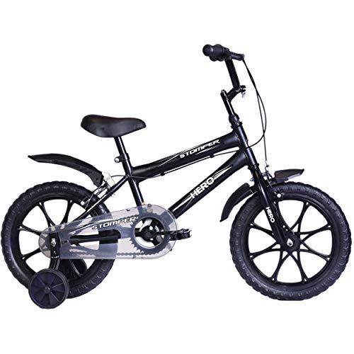 Hero Stomper 16T Steel Single Speed Junior Cycle, 12 Inch (Black)