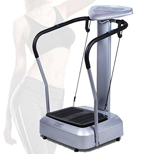 Coorun Profi 1000 W Vibrationsplatte, 99 Geschwindigkeitsstufen, mit LED-Display und 3 Trainingsprogrammen, Vibration Trainings-Gerät Vibrationstrainer für Bauch Beine