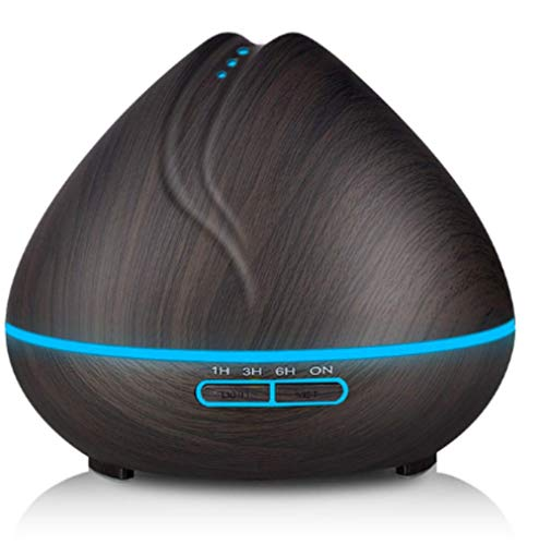 MLACOBD humidifierAroma ätherisches Öl Diffusor Ultraschall Luftbefeuchter Reiniger mit Holz Korn LED-Leuchten für Büro Zu Hause Schlafzimmer