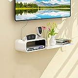 Mobile TV a Parete Muro di Fondo mensola Decorativa Scaffale Galleggiante Mensola a Muro scaffale per Libri Console multimediale Supporto della Televisione (Colore : A)