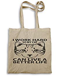 Work Hard Cat Can Live Better Life Tote bag gg307r