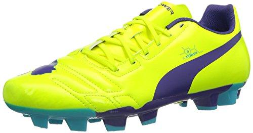 Puma evoPOWER 4 FG, Scarpe da calcio Uomo, Giallo (Gelb (fluro yellow-prism violet-scuba blue 05)), 43