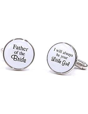 lparkin Vater der Braut Manschettenknöpfe, Hochzeit Manschettenknöpfe–Vater der Braut, I Will Always Be Your...