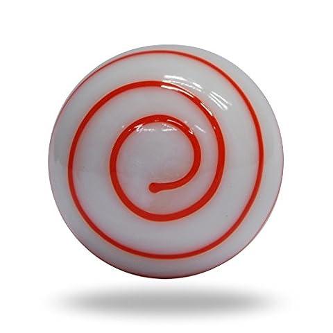 Glas Milch Cravo orange auf weiß rund Swirl Schrank Schublade Knauf Home Decor Pull