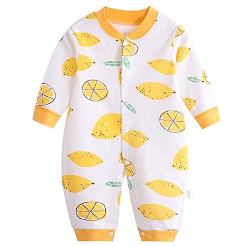 Mibuy Babyoverall Baumwolle Weich Onesies Lange Ärmel Schlafanzug Cartoon Drucken Neugeborene Hauskleidung Frühling Herbst Krabbelanzug -