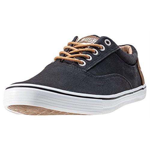 Hommes Chaussures basses dunkelblau bleu, (dunkelblau) 4102302-800 Schwarz