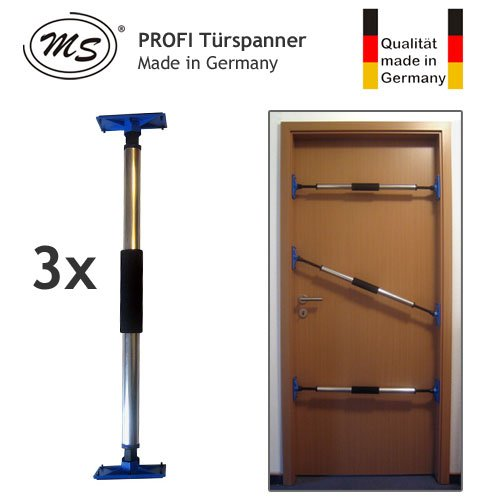 3er Set PROFI Türspanner Türfutterstrebe Türmontagehilfe Zargenspanner - 670-1070mm - Made in Germany - MS-T2000