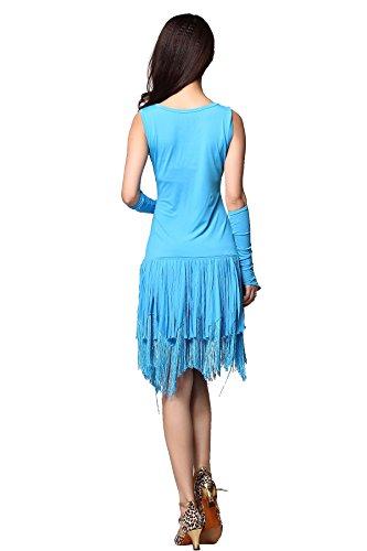 FaithYoo Damen Schößchen Kleid One size Hellblau