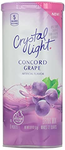 CRYSTAL LIGHT CONCORD GRAPE DRINK MIX MAKES 12 QUARTS (6