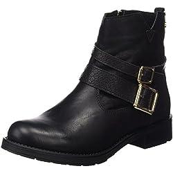 Xti Botin Sra. C.Combinado 46181 - Botas cortas para mujer, color Negro (Negro), talla 38