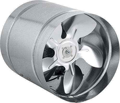 STAHL Axial Rohrlüfter Zuluft/Abluft Rohrventilator Lüfter. Größen wählbar: 150, 160, 210, 250, 315,350 mm. Gehäuse aus verzinktem Stahl. Kanallüfter für Dauerbetrieb. (aRwS-210mm; 400 m3/h)