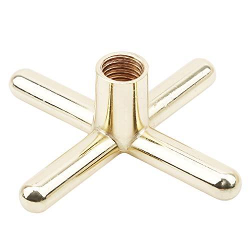 HYhy Cross Billiard Metallrahmen Rod Metall Superior Bridge Kopf Kreuz Pool Queue Stick Rahmen Gummi Billard Rack Rod Zubehör Ausrüstung, Goldene Metall Kreuz -