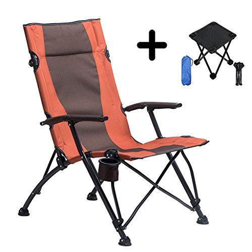 Angeln Stühle mit Armen Outdoor Klappstuhl Dual-Use Recliner Tragbare Rückenlehne Mittagessen Bett Strand Camping Angeln Stuhl mit kleinen Klapp Camping Hocker -