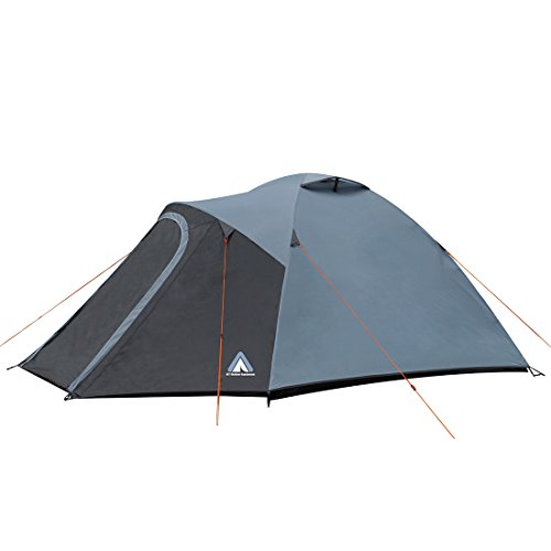 10T Zelt Malaga 3 Mann Kuppelzelt wasserdichtes Campingzelt 5000mm Igluzelt mit Wohnraum in Blau