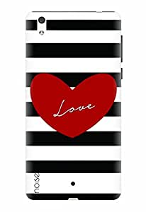 Noise Designer Printed Case / Cover for Lyf Water 1 / Patterns & Ethnic / Love Stripes Design