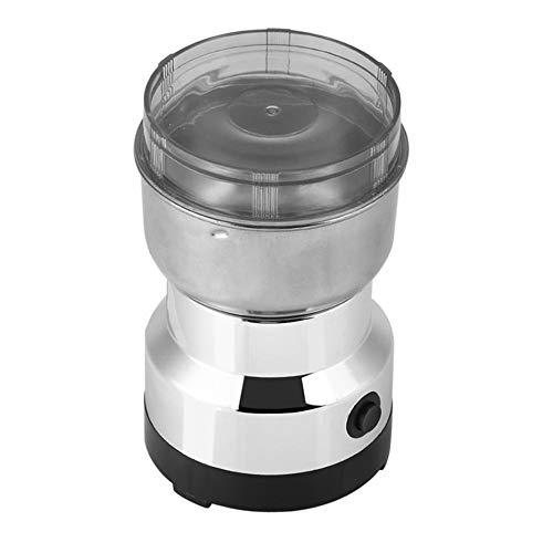 WPCBAA Multifunktions-EU-Stecker Kaffeemühle Edelstahl elektrische Kräuter/Gewürze/Nüsse/Getreide/Kaffeebohne Schleifen