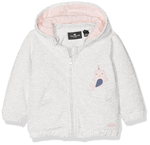 TOM TAILOR TOM TAILOR Kids Baby-Mädchen Kapuzenpullover Detachable Hood Sweatjacket Grau (Greyish beige Melange 8353) 68