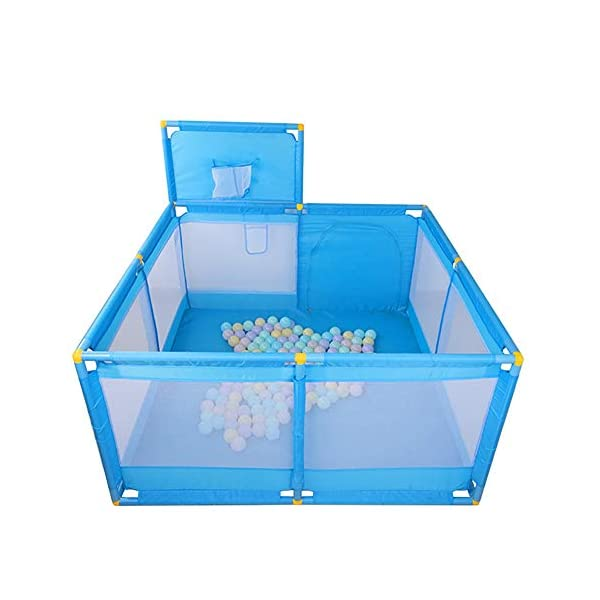 Protable Baby Game Playpen, Large Blue Boys Safety Play Center Yard, 128×128×66cm (Size : Playpen) Playpens  1