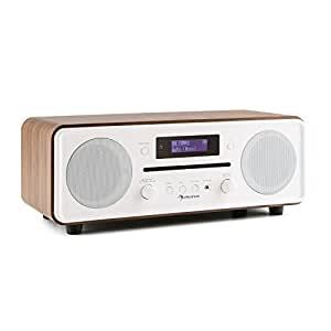 auna melodia design radio r veil dab radio mp3 lecteur cd bluetooth double alarme fonction. Black Bedroom Furniture Sets. Home Design Ideas