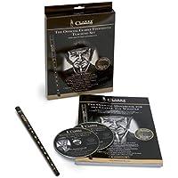 Clarke 700555 Pennywhistle afinación Re, metal curvado - set para principiantes